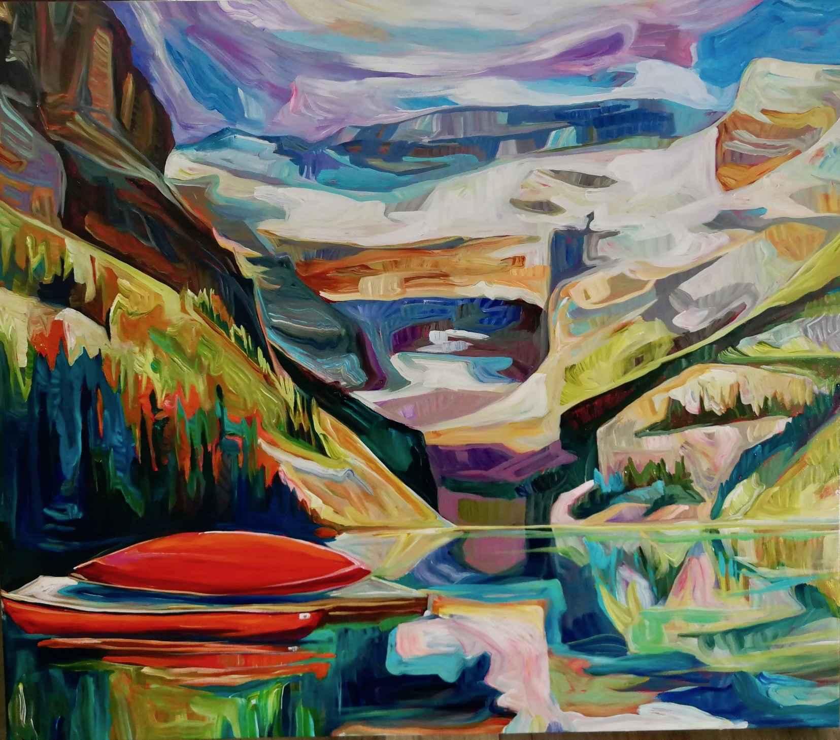 Red Canoe by  Julia Veenstra - Masterpiece Online