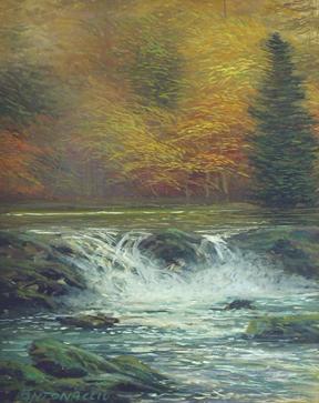 Waterfall in Fall by  Egidio Antonaccio  - Masterpiece Online