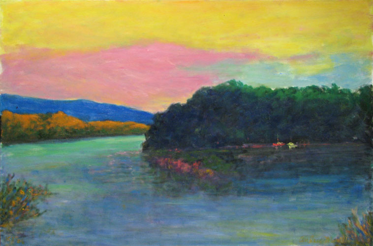 Sunset Above the River by  Andres  Morillo - Masterpiece Online