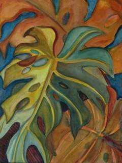 Pumpkin Monstera by  Anne Irons - Masterpiece Online