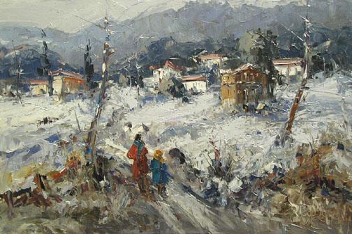 Winter Stroll by  Fani  Parlapani  - Masterpiece Online