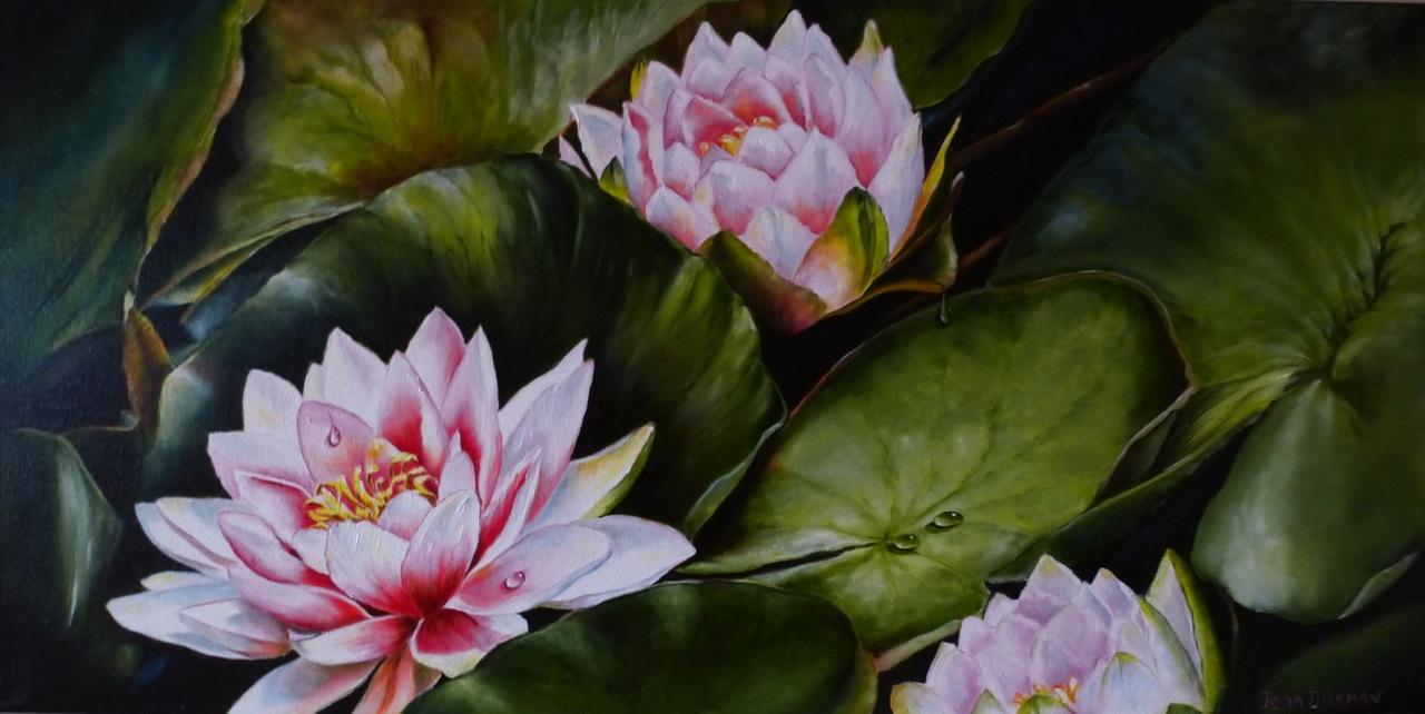 The Lily Pond by  Rena Bierman - Masterpiece Online