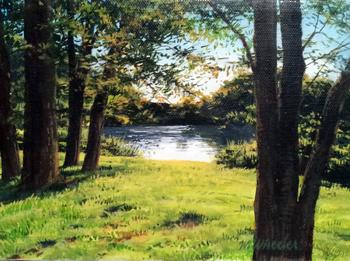 Summer Lake (study) by  Michael Wheeler - Masterpiece Online