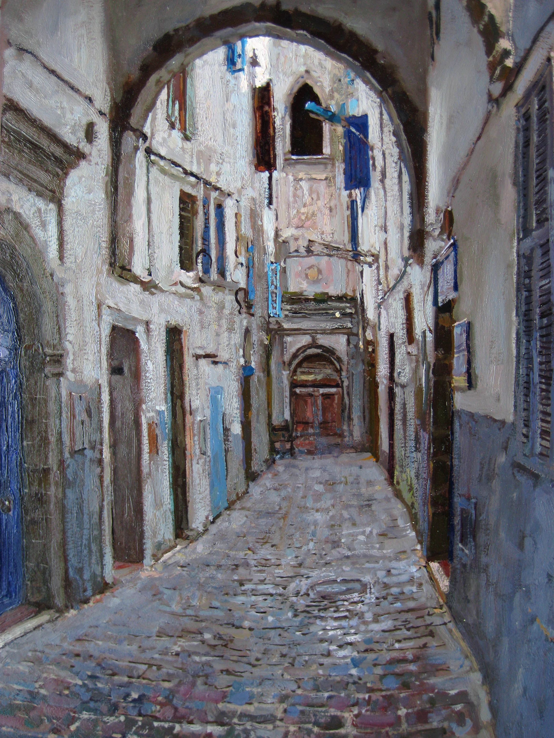 Entrance to the Old P... by  Daud Akhriev - Masterpiece Online