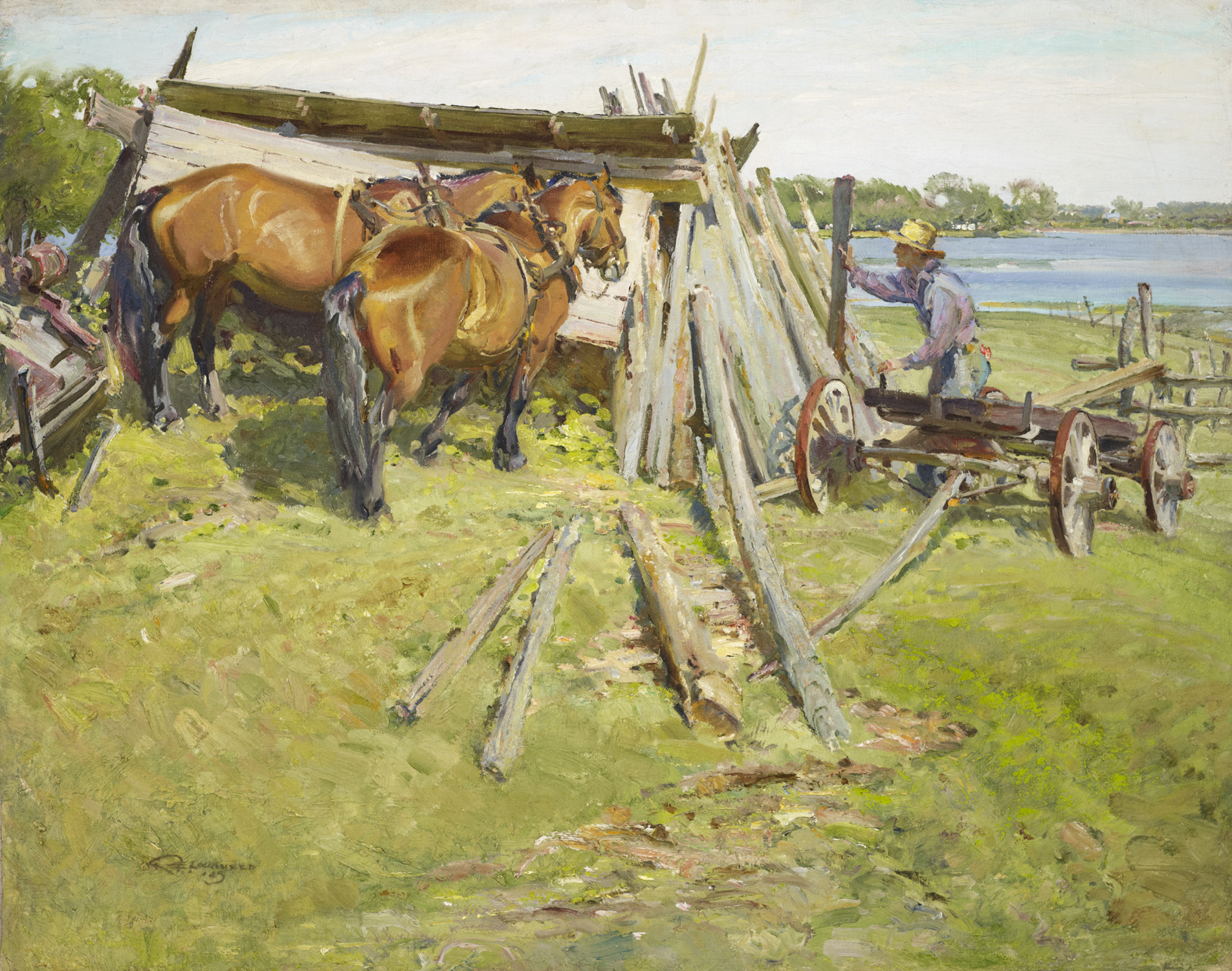 Canada Stacking Poles by  Robert Lougheed - Masterpiece Online