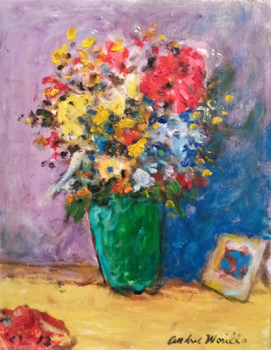 Table with Flowers  by  Andres  Morillo