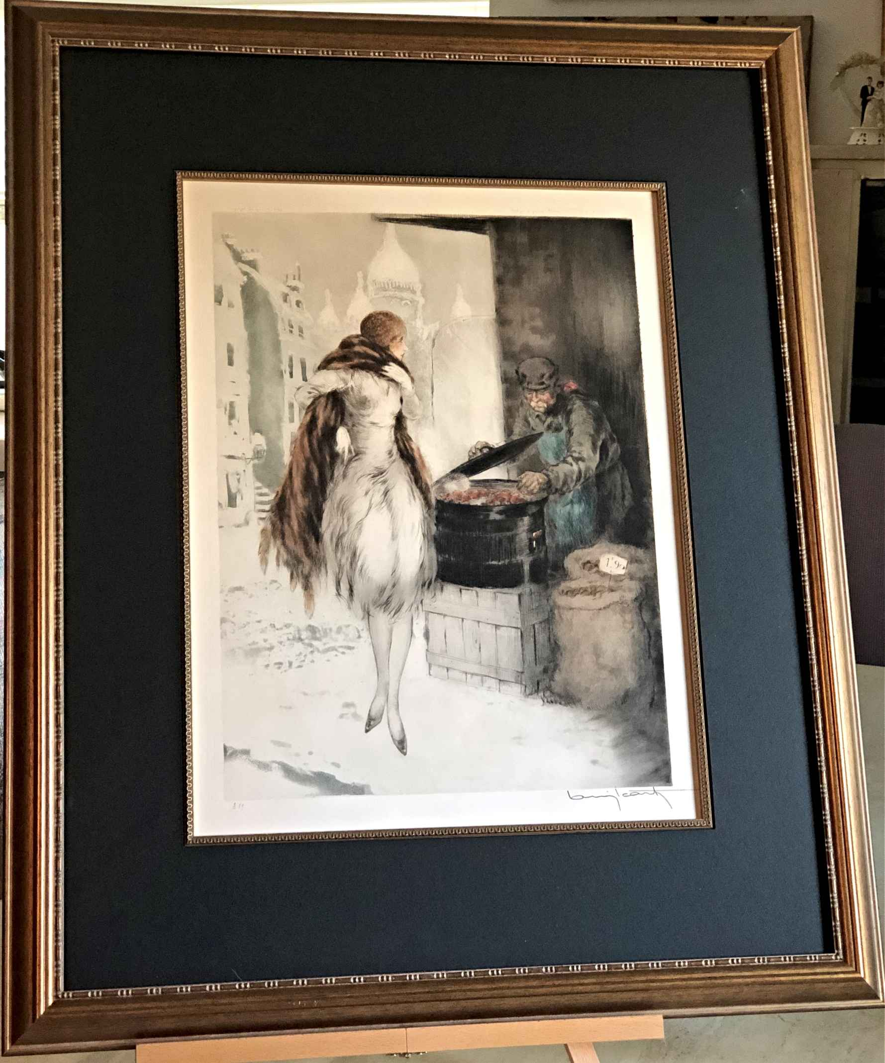 Chestnut Vendor by  Louis Icart - Masterpiece Online