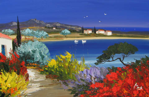Bay of Olives by  Louis  Magre - Masterpiece Online