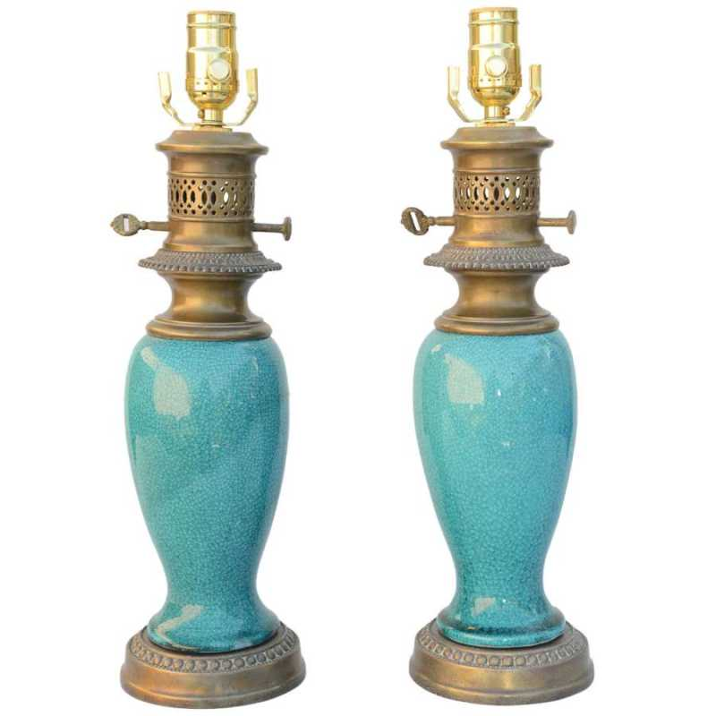 Pair of Turquoise Gla... by  Chinese  - Masterpiece Online