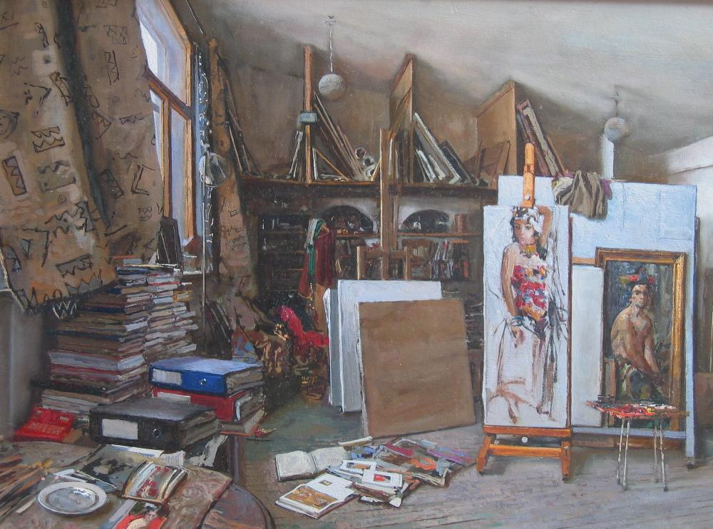 Studio of Nikolai Blo... by  Daud Akhriev - Masterpiece Online