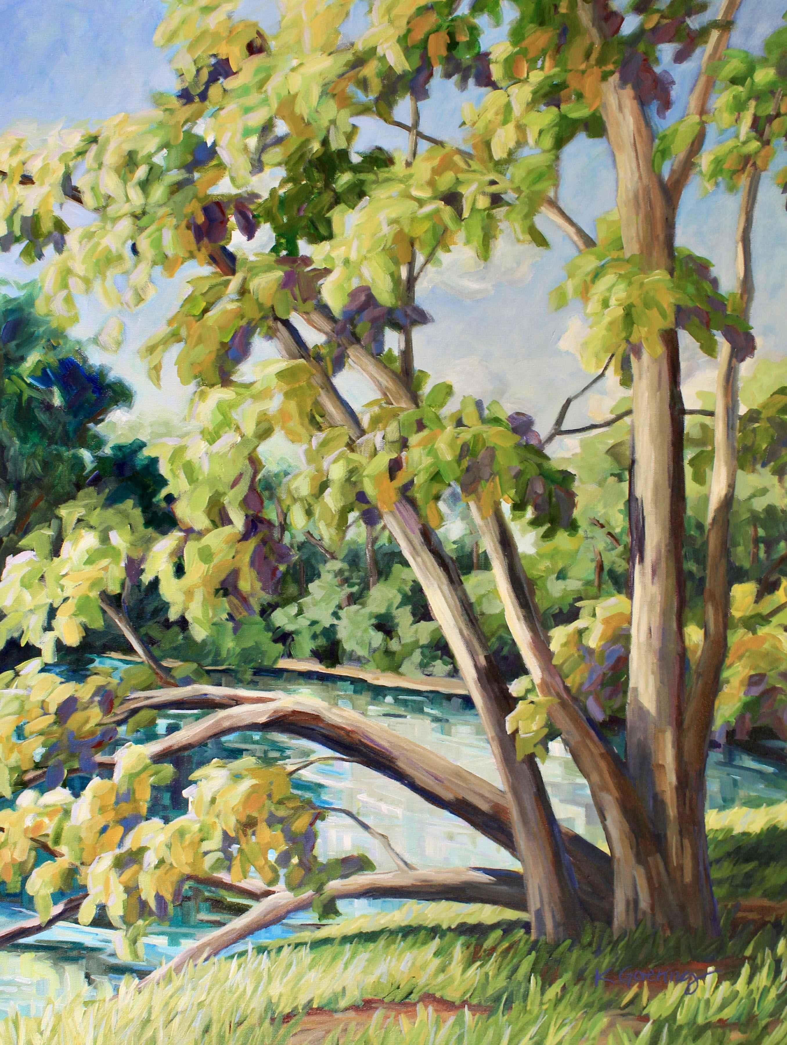Smoky Hill Birches by  Kristin Goering - Masterpiece Online