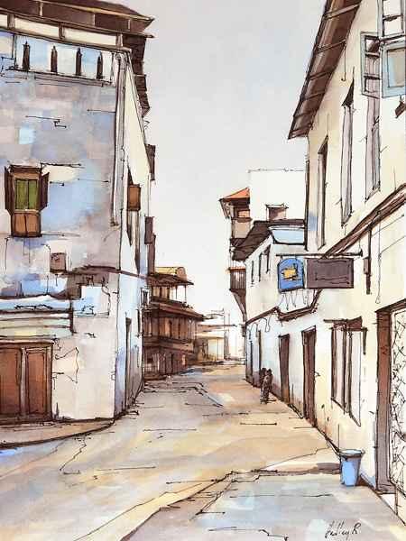 Around the Corner, St... by  Hadley Rampton - Masterpiece Online