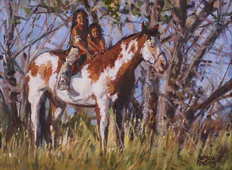 Gentle Pony by  Barbara Summers Edwards - Masterpiece Online