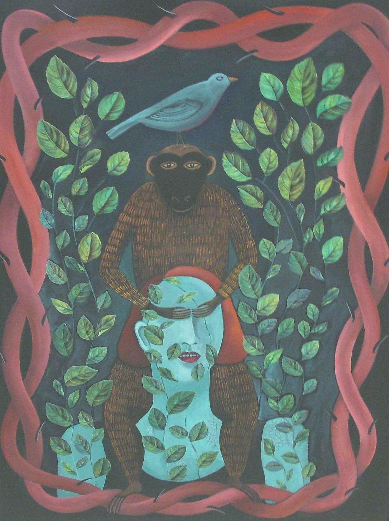Unknown (Woman w/monk... by  Sharon Bronzan - Masterpiece Online