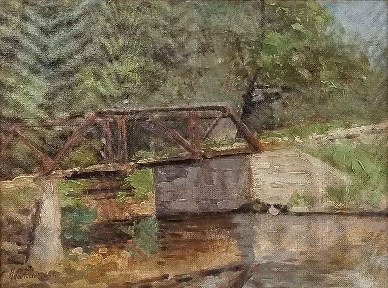 The Old Bridge, Brook... by Mr. Hans Stoltenberg - Masterpiece Online