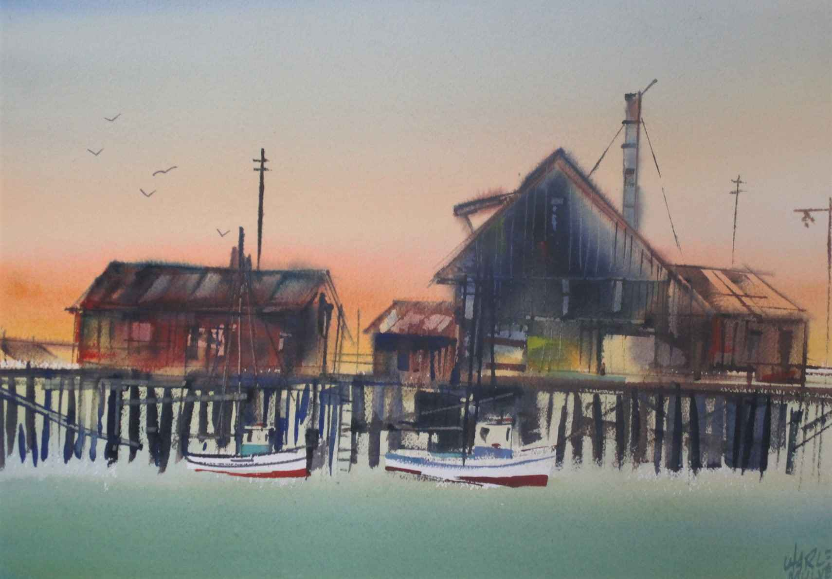 Unknown ( Boat Dock) by  Charles Mulvey - Masterpiece Online