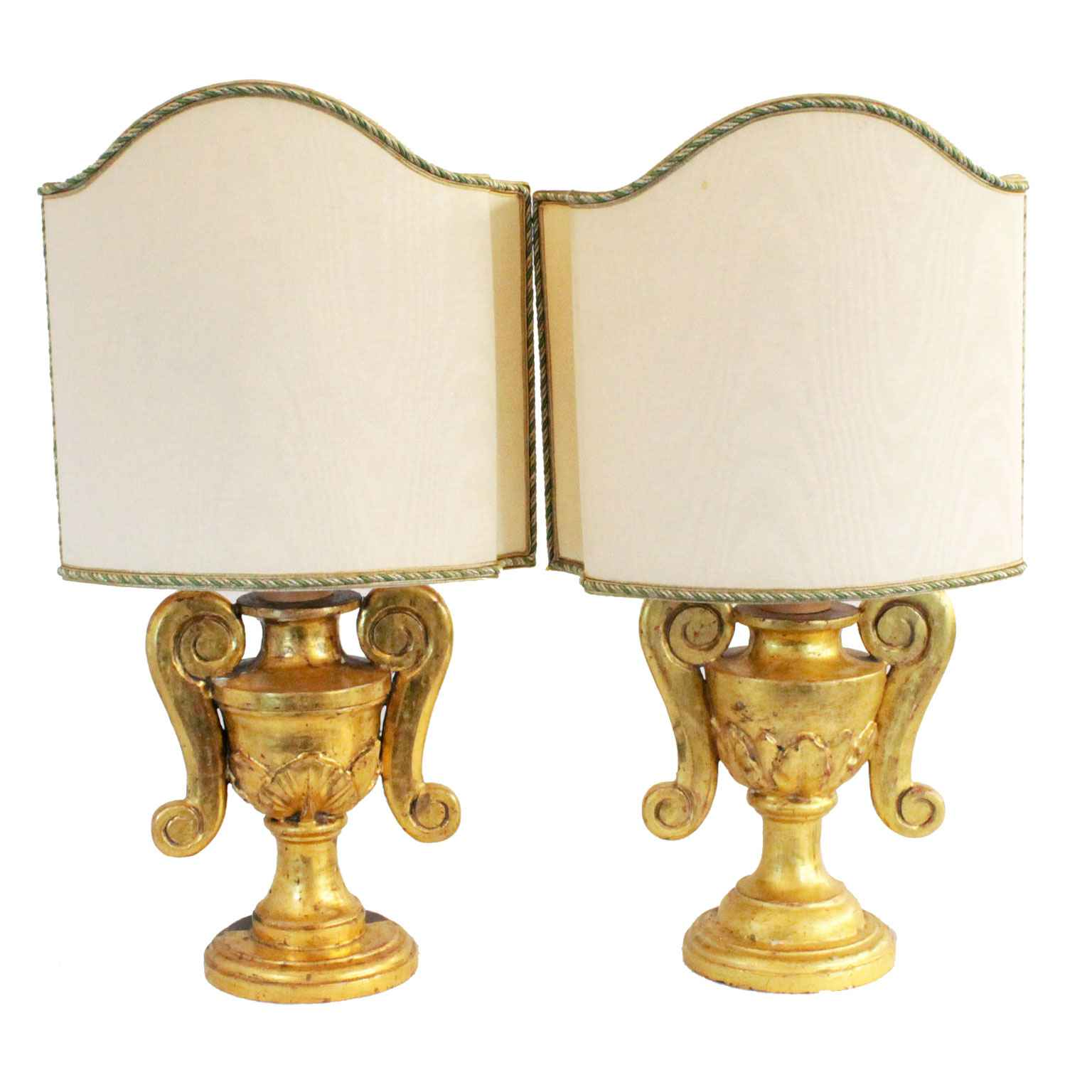 Pair 19th Century Gil... by  Italian  - Masterpiece Online