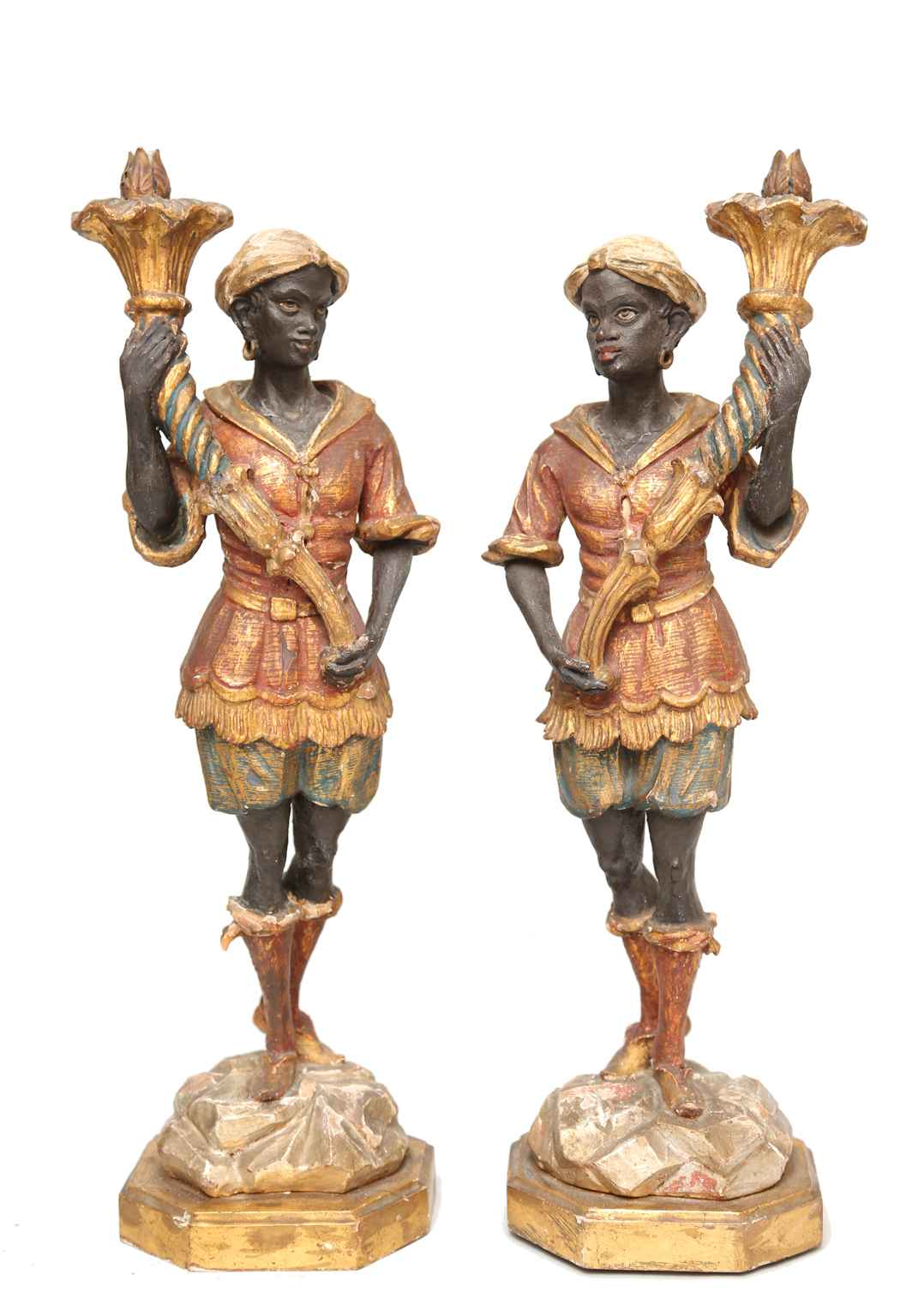 Pair of Polychromed B... by  Italian  - Masterpiece Online