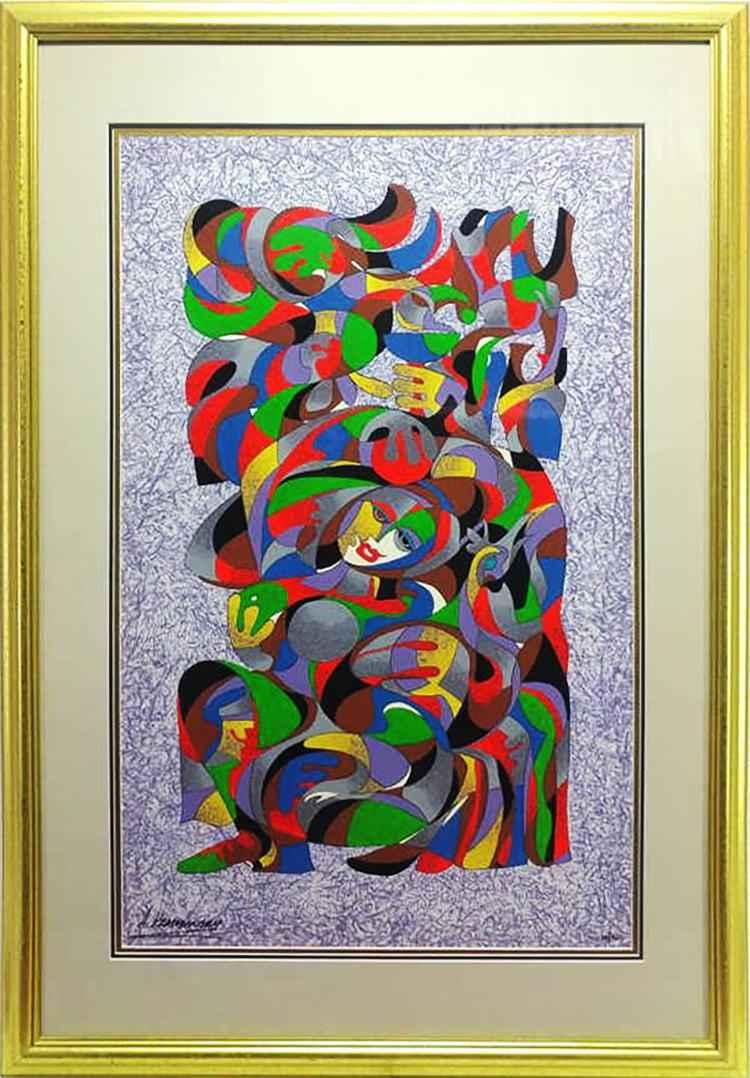 Abstract Smile by  Anatole Krasnyansky - Masterpiece Online