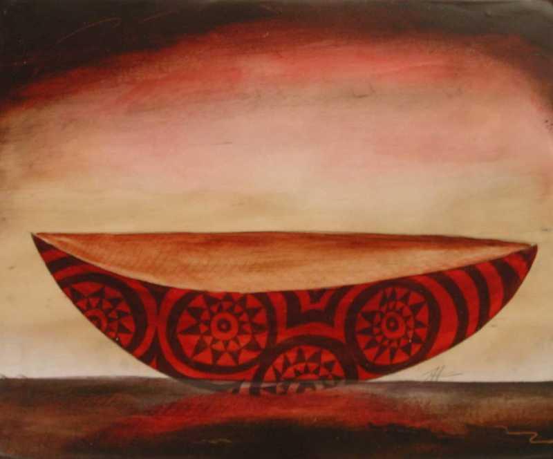 Red Hawaiian Canoe by  Steve Jensen - Masterpiece Online
