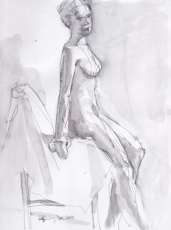 Figure Sketch: 13 by  Melissa Hefferlin - Masterpiece Online