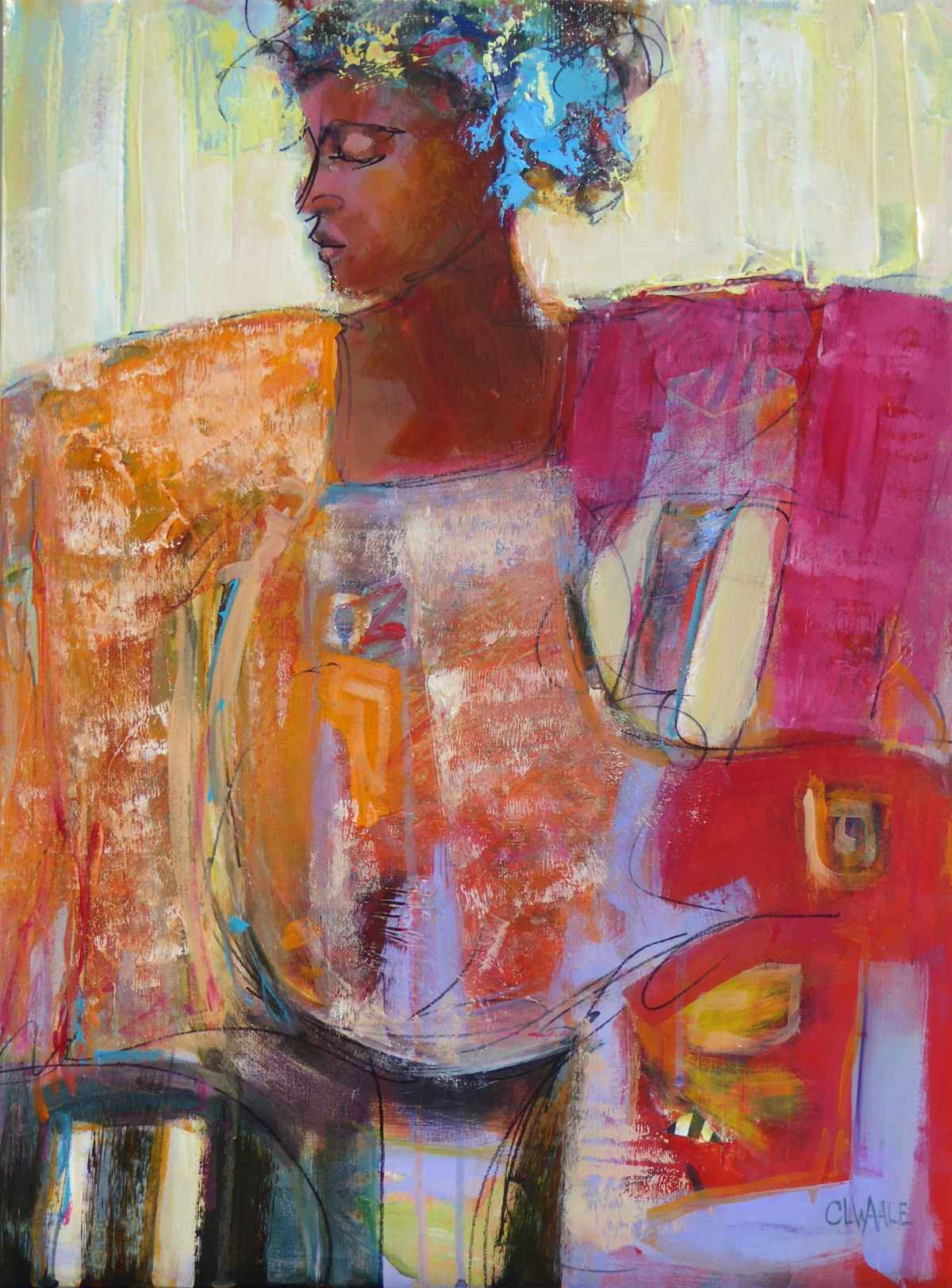 Comfortable in Her Ow... by  Cheryl Waale - Masterpiece Online