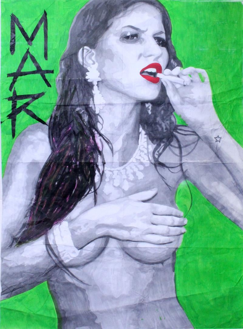 Woman with Green Back... by  Spencer Guilburt MAR - Masterpiece Online