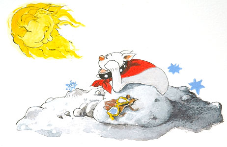 Moondog And Sun by  John A. Rowe - Masterpiece Online
