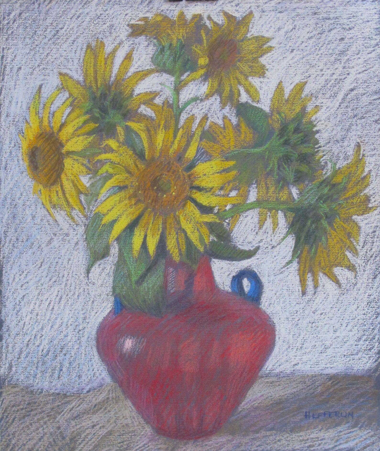 First Sunflowers with... by  Melissa Hefferlin - Masterpiece Online