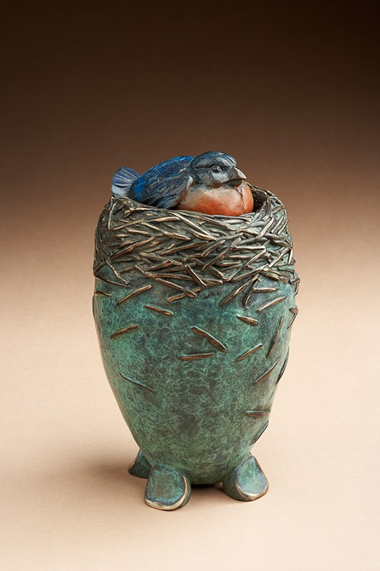 Blue Bird Vessel by  Star York - Masterpiece Online