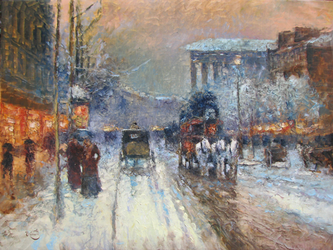 Snow in Paris  by  Vladimir  Nasonov