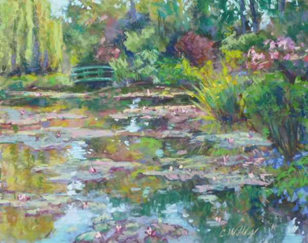 Giverny Bridge by  Chris Willey - Masterpiece Online