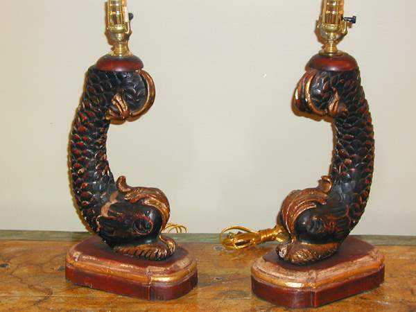 Pair of Dolphin Lamps by  Italian  - Masterpiece Online