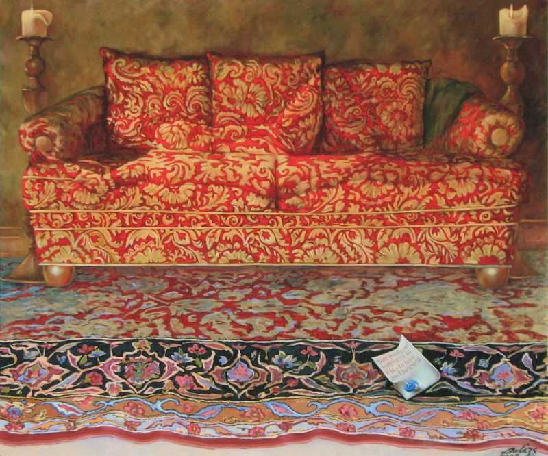 Red Couch by  Balazs Szabo - Masterpiece Online