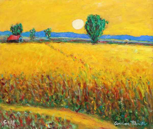 Wheatfield with White... by  Andres  Morillo - Masterpiece Online