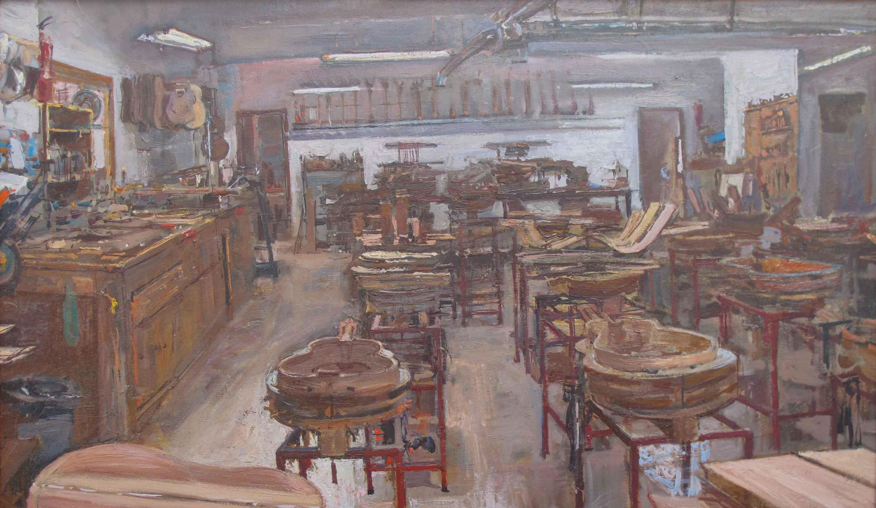 The Studio of Valeria... by  Daud Akhriev - Masterpiece Online