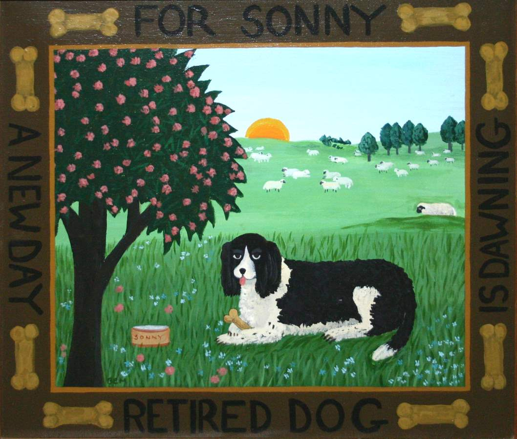 Sonny, Retired Dog by  Barbara Moment - Masterpiece Online