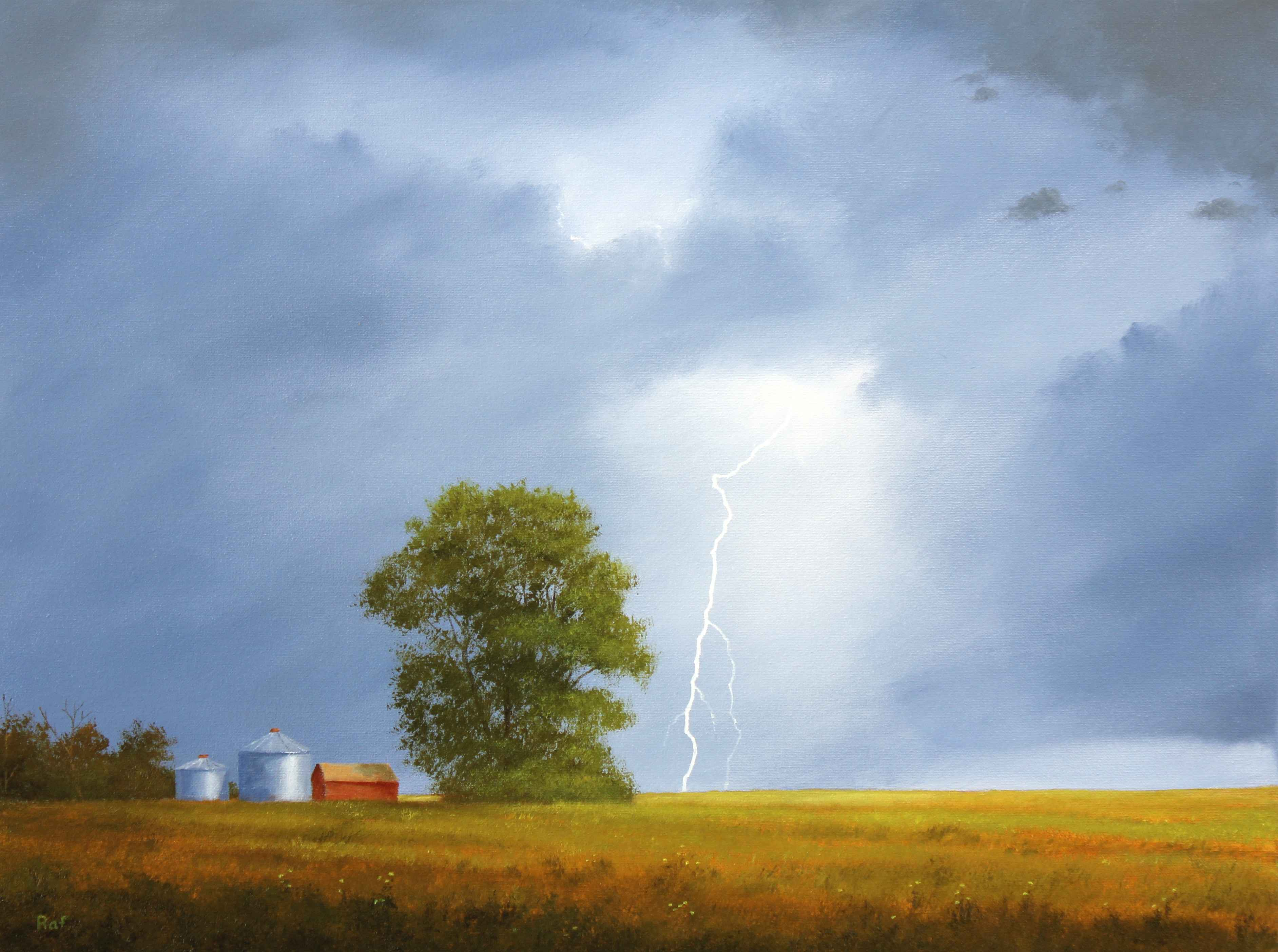 Lightning Strike Near...  by  Ted Raftery