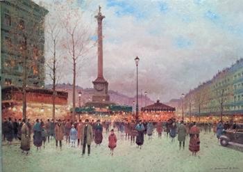 Place Vendome by  Vasily Gribennikov - Masterpiece Online