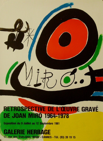 Joan Miro retrospecti... by  Joan Miro - Masterpiece Online