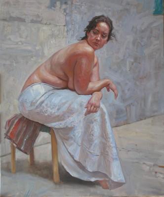 In the Courtyard by  Daud Akhriev - Masterpiece Online
