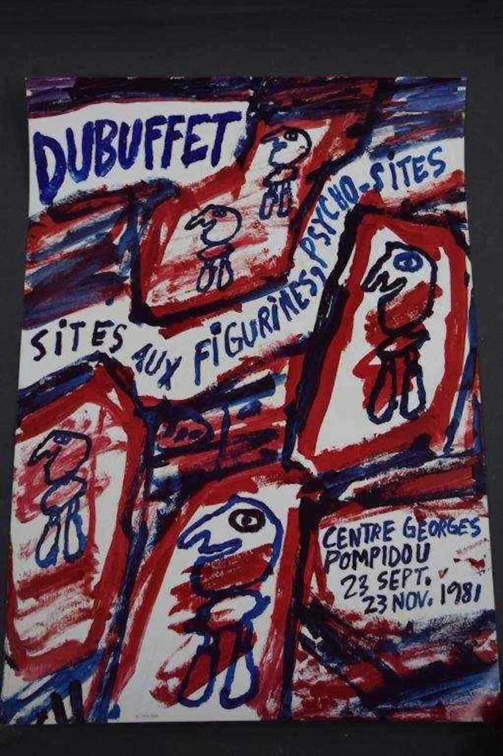 Exhibition Poster-Geo... by  Jean Dubuffet - Masterpiece Online