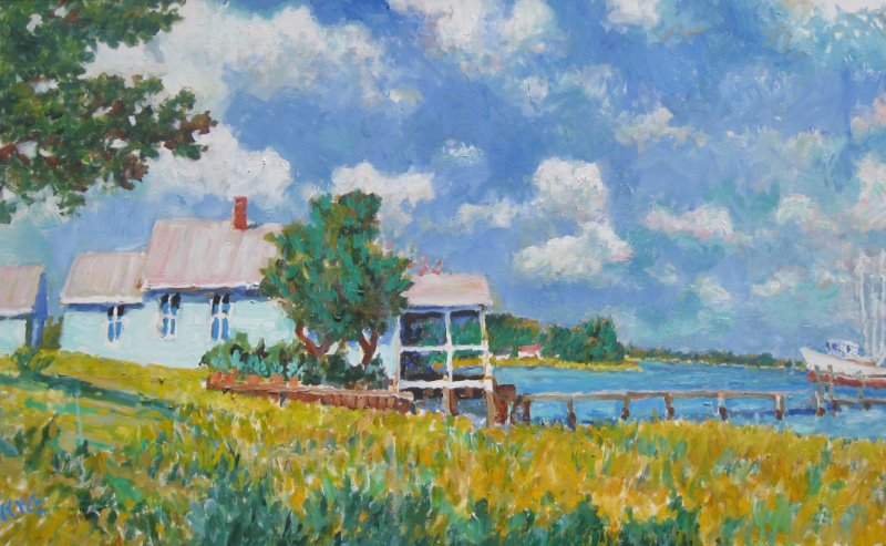 House and Boat on Cal... by  Kyle Highsmith - Masterpiece Online
