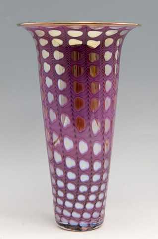 Opal Turmpet Vase/Lav... by  Thomas Philabaum - Masterpiece Online