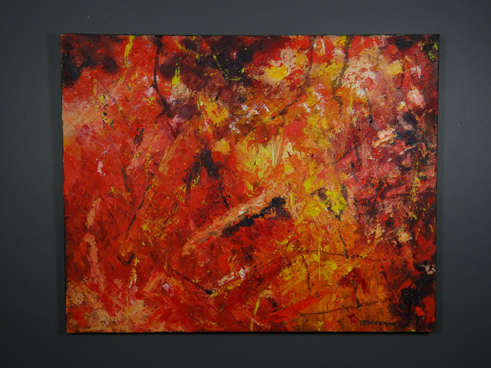 Simply Red Abstract I  by  Robert Blenderman
