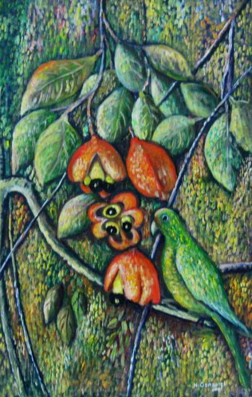 Ackee And Conures Bird by  Novelette Gonzales - Masterpiece Online