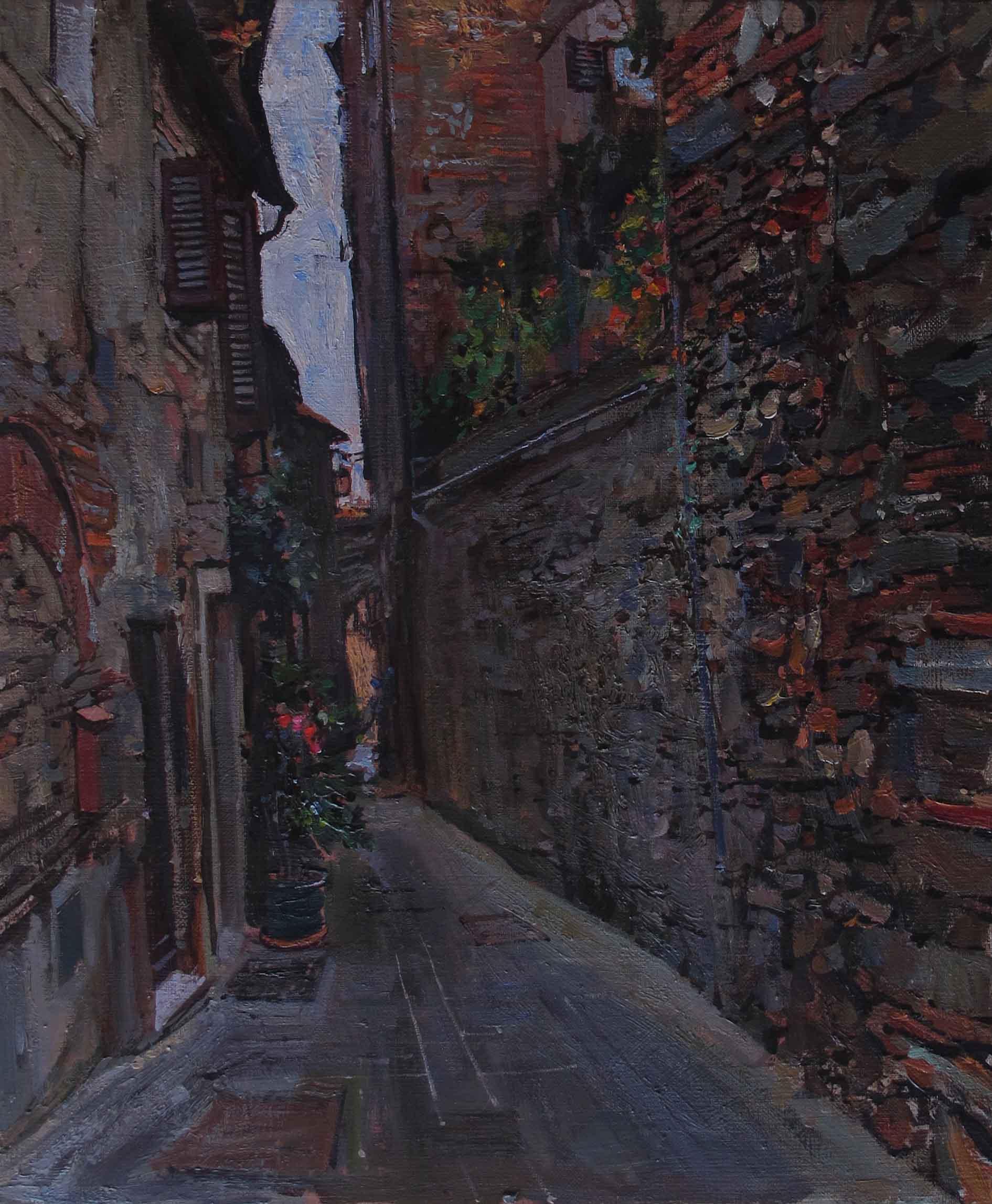 Old Streets, Anghiari by  Daud Akhriev - Masterpiece Online