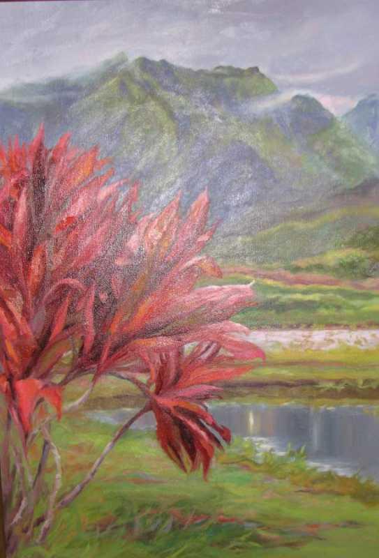 Red Ti Hanalei Valley by  Kristen Olson - Masterpiece Online