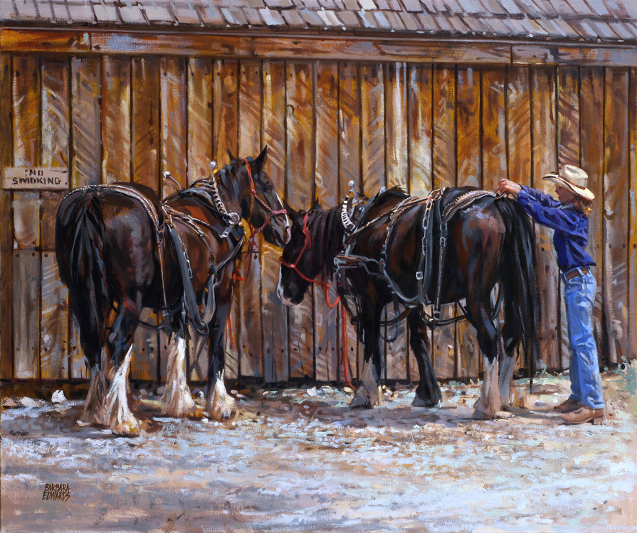 SOLD- At The Barn by  Barbara Summers Edwards - Masterpiece Online