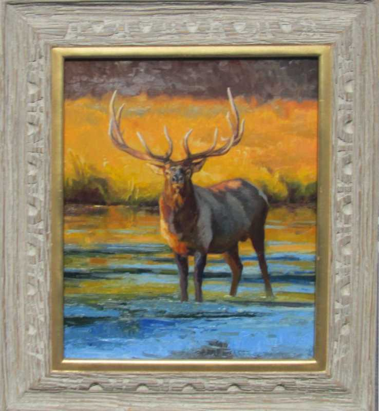 Snake River Elk by  Michael Romney - Masterpiece Online